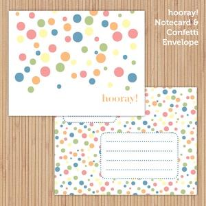 Hooray! notecard set (printable)