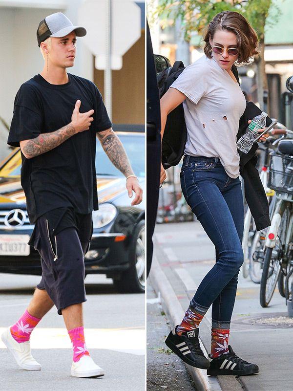 Justin Bieber V. Kristen Stewart: Who Rocked Marijuana Socks Better?