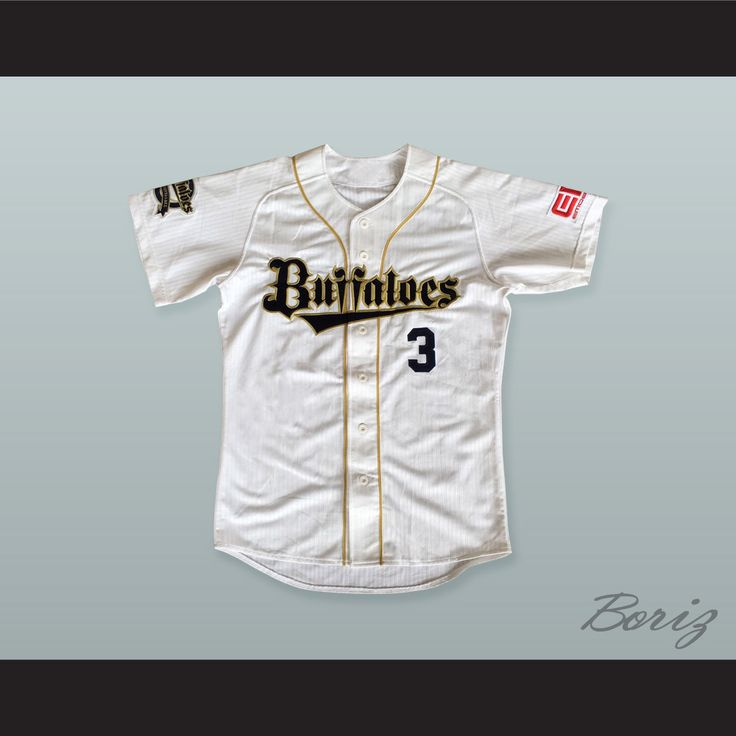 """Lee S.Y. 3 Orix Buffaloes Baseball Jersey with Patches. STITCH SEWN GRAPHICS AND EMBROIDERED PATCHES CUSTOM BACK NAME CUSTOM BACK NUMBER ALL SIZES AVAILABLE SHIPPING TIME 3-5 WEEKS WITH ONLINE TRACKING NUMBER Be sure to compare your measurements with a jersey that already fits you. Please consider ordering a larger size, if you prefer a loose fit.  HOW TO CALCULATE CHEST SIZE: Width of your Chest plus Width of your Back plus 4 to 6 inches to account for space for a loose fit. Example: 18""""…"""
