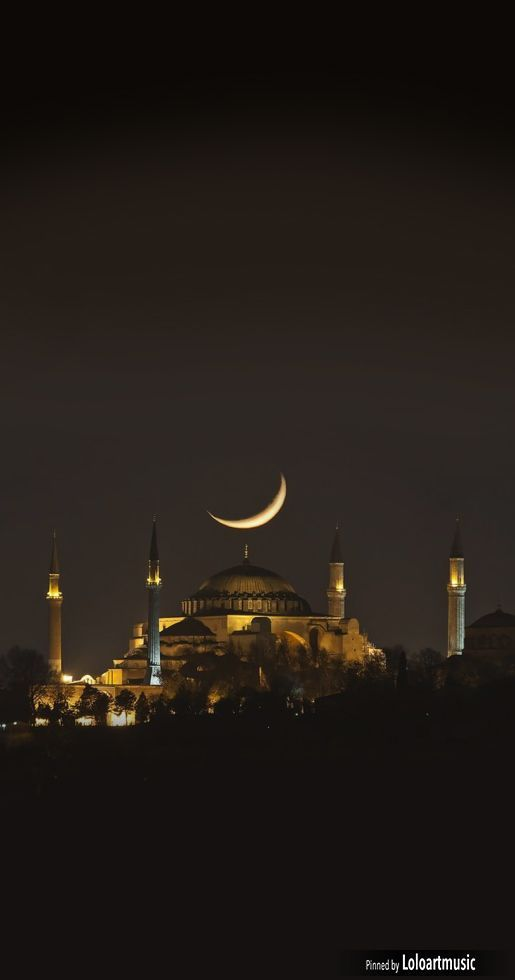 """The night view of Hagia Sophia"" (Istanbul, Turkey) ~ by asikkk on Getty Images. 