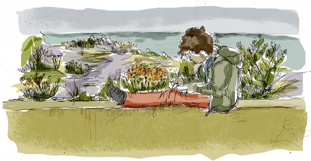 Malik drawing, Arniston  South Africa by Jambo julie, via Flickr