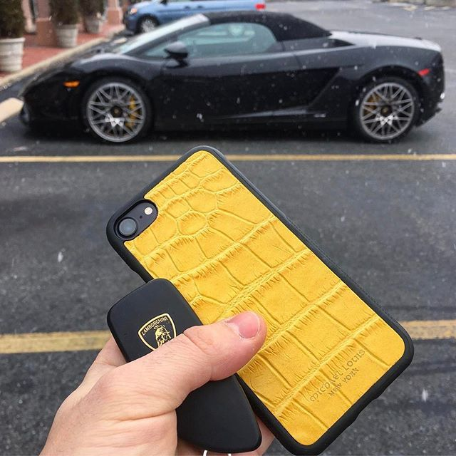 @michael louis Yellow Croc iPhone 7 Case x Lamborghini Available Now At - www.MichaelLouis.com #exoticcars #engine #F4F #sportscar #horsepower