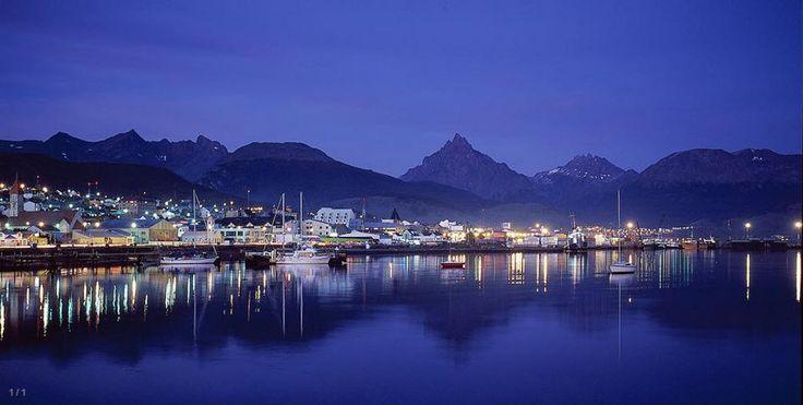 Ushuaia in Tierra del Fuego, Antártida e Islas del Atlántico Sur. Then you can take a ferry to Antarctica!!!