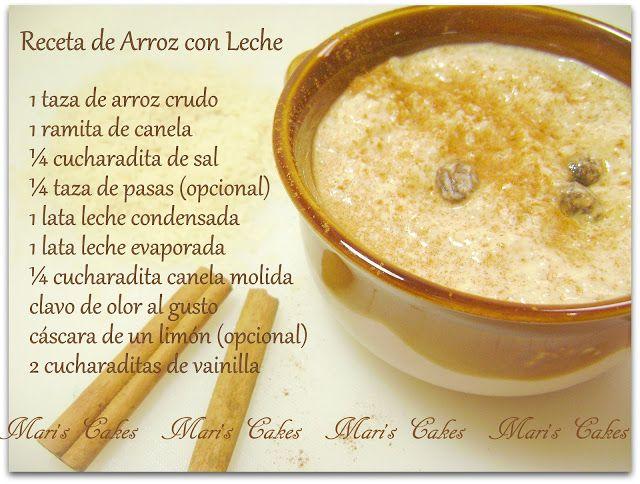 Resultados de la búsqueda de arroz con leche - Mari's Cakes