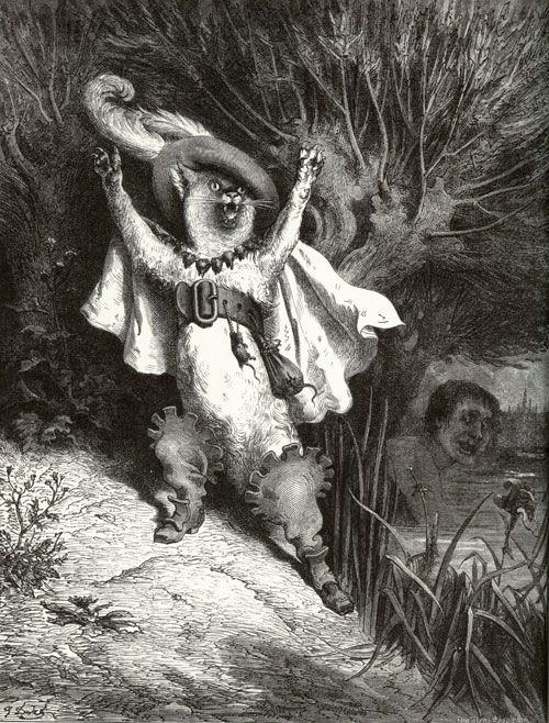 Perrault's Fairy Tales (first published in 1697): Puss in Boots, illustration by Gustave Doré (1832-1883)
