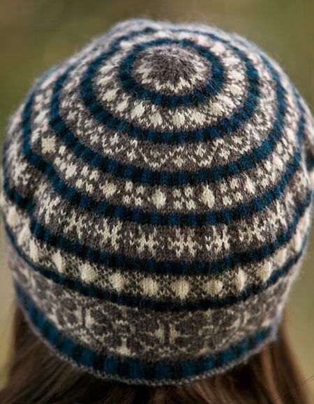 Fairisle Snowflake Tam pattern - Knitting Patterns and Crochet Patterns from KnitPicks.com $1.99