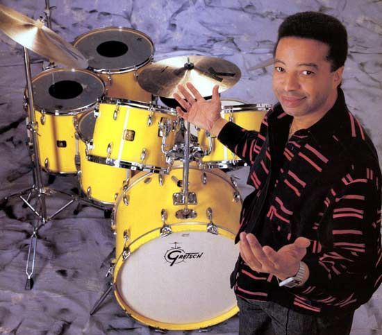 Tony Williams and his signature yellow gretsch kit.
