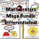 Differentiate Math Easily with 3 levels of Game Play for 1st Grade  MEGA Bundled pack of all 10 differentiated math center workshop games!!  This pack includes; *10 diffe...