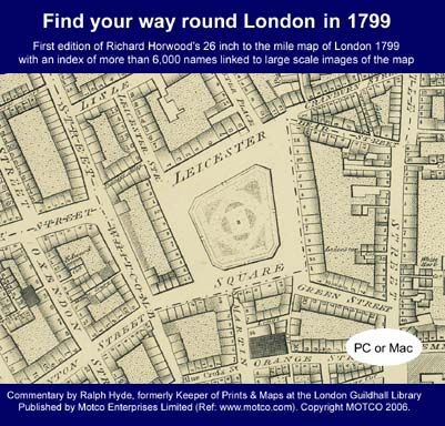 LONDON MAP 1799