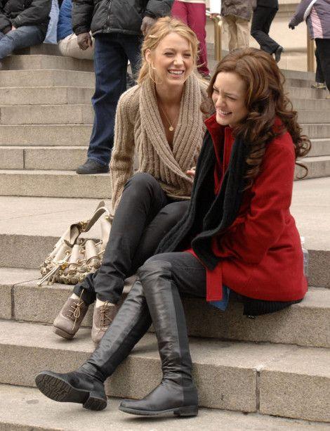 ... girl met steps blair fashion serena fashion serena blair blair 3 Serena Van Der Woodsen And Blair Waldorf Met Steps