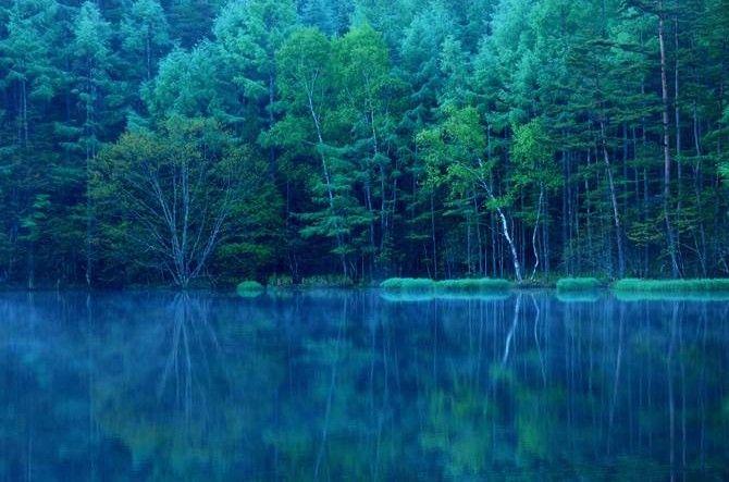 まるで鏡のような絶景!有名絵画のモチーフ「御射鹿池」って?【長野】 @jalannet