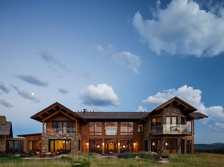 Amazing wooden two-storey single family residence designed in 2012 by Carney Logan Burke Architects situated in Jackson, Wyoming