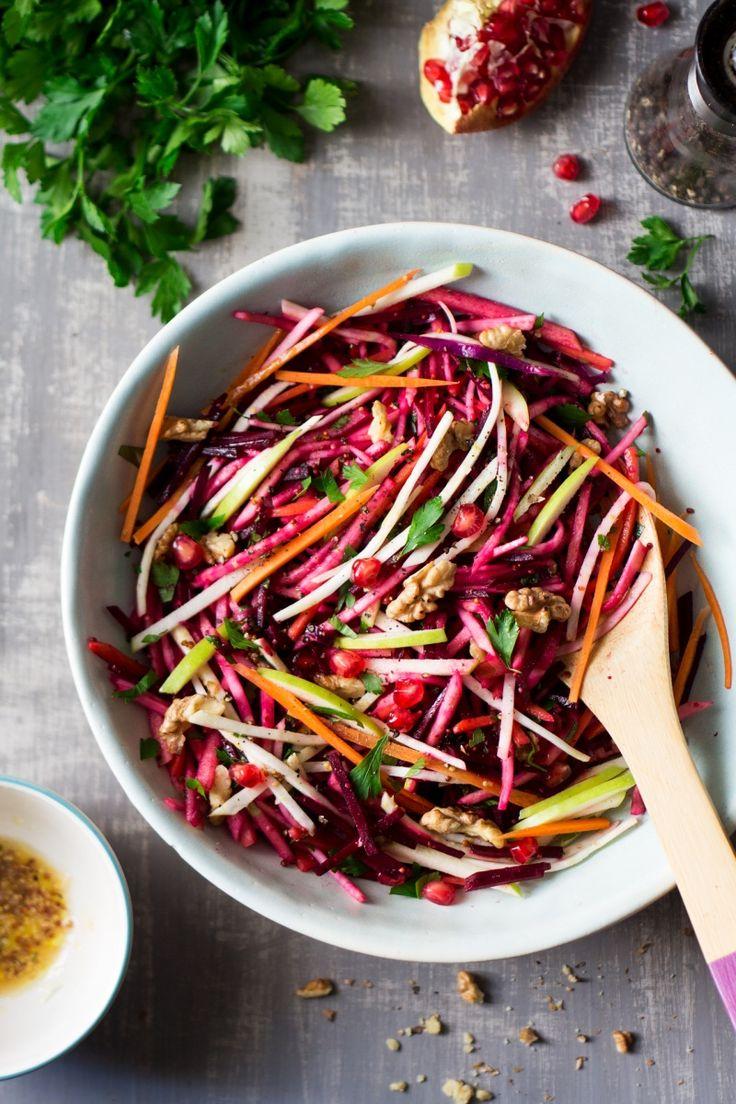 vegan christmas salad top down