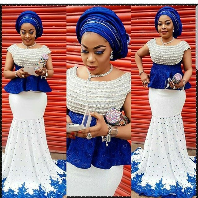 Hi ladies. These are aso ebi ankara and lace styles you can't resist but to rock to any owanmbe party you intend going. Select a style for your ankara and