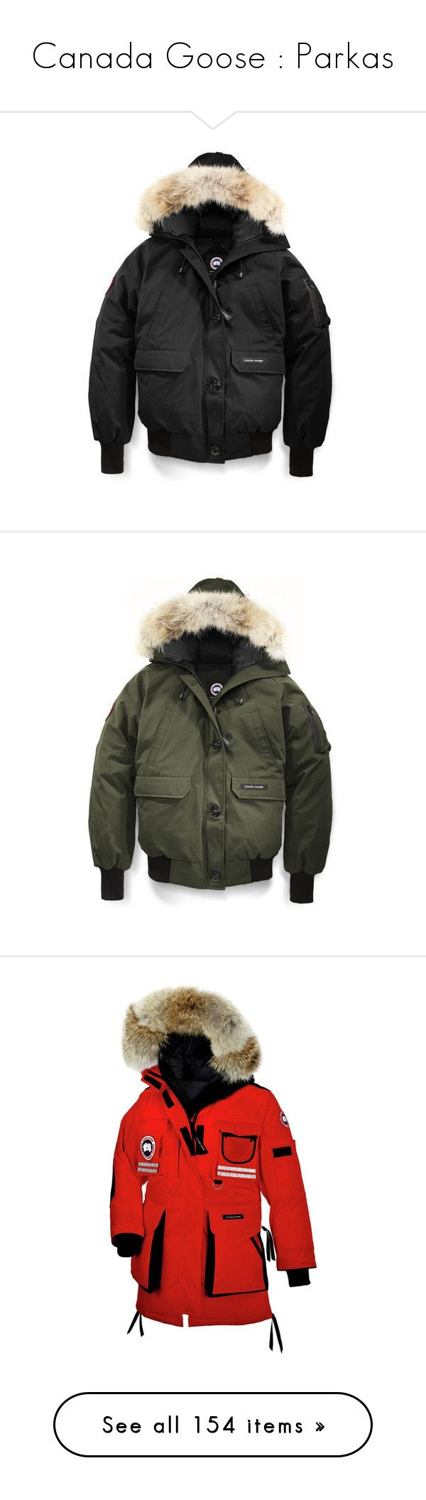 """Canada Goose : Parkas"" by bianca-cazacu ❤ liked on Polyvore featuring outerwear, jackets, bomber jackets, bomber style jacket, canada goose jacket, canada goose, men's fashion, men's clothing, men's outerwear and men's coats"