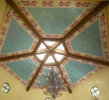 A really freakin cool/beautiful ceiling  Italian Ornamental Ceiling Mural - mediterranean - artwork - san francisco - Lynne Rutter Murals and Decorative Painting