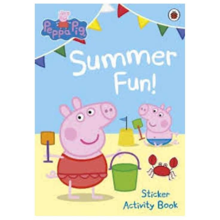 Brand new Peppa Pig books published by Ladybird / Scholastic:24 Story Books ($6.5 each book)8 Activity Books ($6.5 each book)3 Activity Books ($8.5 each book) thicker with more pages10 Sticker Books ($6.5 each book)1 Sticker Pad ($4.5 each)Peppa pig and family plush toys, bubble stickers, balloons, and coloring books. Paperback Story books:20x20cm ~ 23x23cm. $6.5 each. 1. Peppa meets the Queen2. Peppa goes skiing3. Dentist trip4. Peppa pig's family computer5. Peppa's first glasses6.