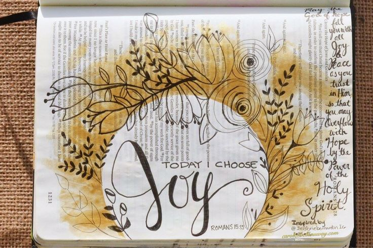 Romans 15:13, January 15, 2016 my version inspired by IG Jessbriebernardin carol@belleauway.com, acrylic paint, micron pen, bible art journaling, bible journaling, illustrated faith