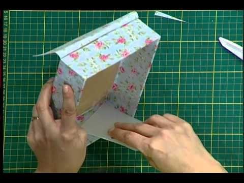 Caixa encapada com tecido 2da parte - YouTube