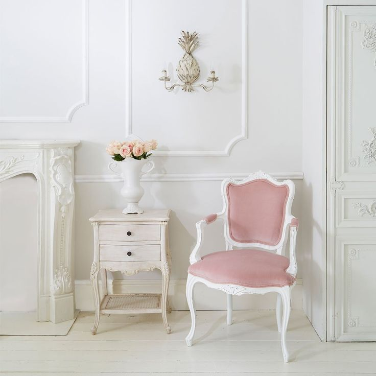The Duchess Pink Chair | French Bedroom Company #Romance #Pink #Frenchbedroomcompany