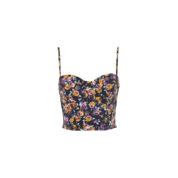 Women's Topshop Floral Print Cup Corset Online via Style Compare (81 BRL) ❤ liked on Polyvore featuring tops, corset, shirts, floral corset top, flower print tops, floral print shirt, floral pattern shirt and shirt top