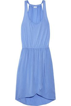 Jersey and voile tank dress