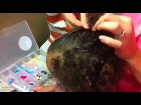 Biracial Hair 101: How to Style: Twist Back Bangs (Toddler or any length Natural Hair) - YouTube