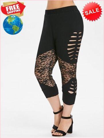 29fb199064d Best Prices Plus Size Lace Insert Capri Leggings 2265873  gKheaWt3rdo9iCpzXNsm Cheap Sale  RoseGal.com