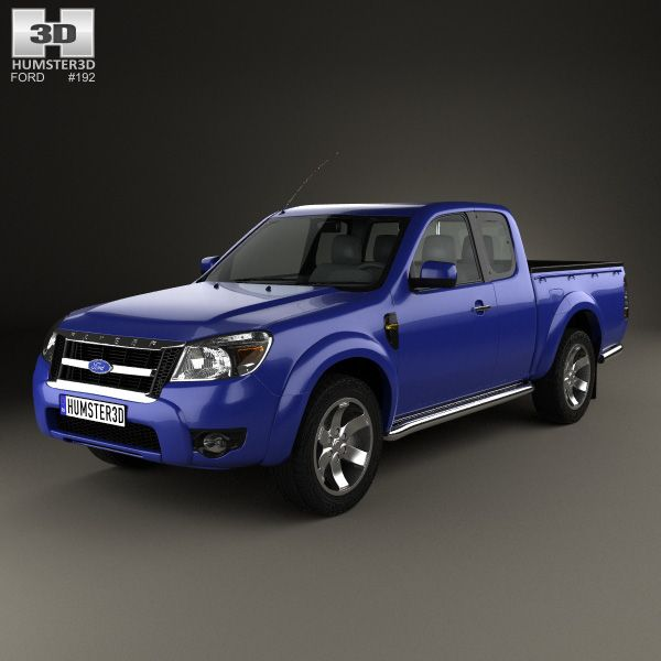 ford ranger extended cab 2009 3d model from humster3dcom price 75
