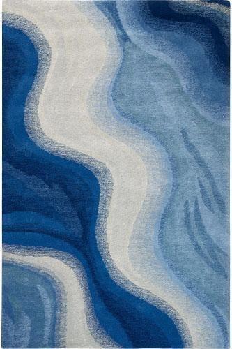 Big waves. Carpet design.