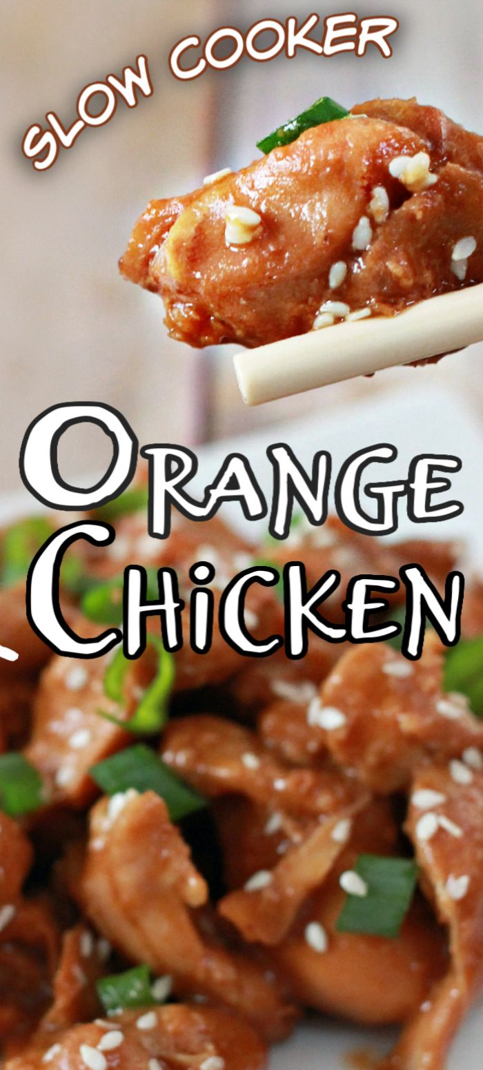 Jul 11, 2020 – This best SOW COOKER ORANGE CHICKEN recipe calls for very few ingredients – and is a little sticky, a tad…
