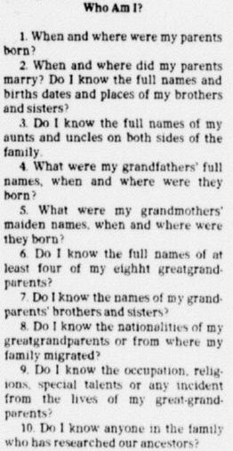 "Genealogy 101: #1 Gather What You Know| In this article – part of an ongoing ""Introduction to Genealogy"" series – Gena Philibert-Ortega discusses some basic aspects of doing family history research.  An article about genealogy, Dallas Morning News newspaper article 25 December 1977 #familyhistory #familytree #genealogy"