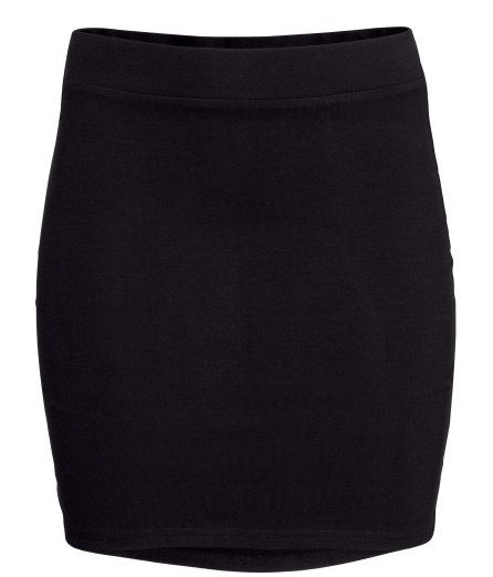Check this out! Short skirt in jersey with an elasticated waist. - Visit hm.com to see more.