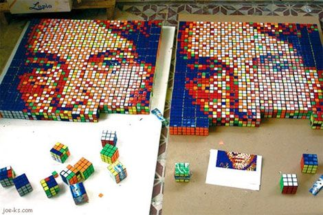 pixelated-image-with-rubiks-cube