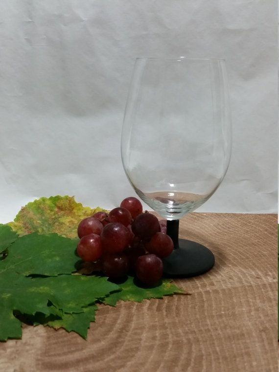This listing is for one #chalkboard dipped, short stem wine glass and a small quantity of white writing chalk, wine corks are not included.  This makes the best housewarming... #handmade #giftforher #jewelry #wedding #etsy #wineaboutjewelry