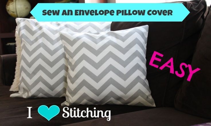SUPER EASY slip cover (or pillow envelope) tutorial! I love this because I make my dog beds from old pillows and instead of that high school blanket tied together I can make a professional looking cover for an old mattress pad I am using!! <3