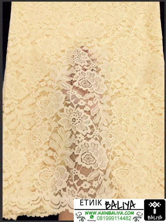 kain Kebaya semi Prancis Terbaru Warna Kuning
