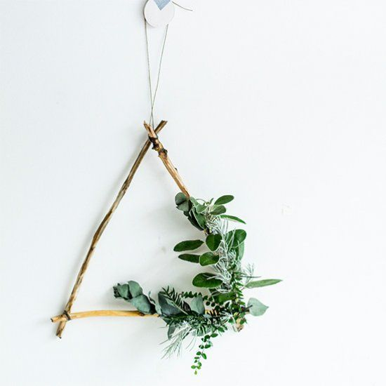 It's not too late to decorate you doors! This wreath is made from foraged materials so you can make your today!