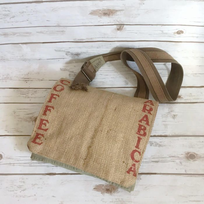 The perfect satchel for any coffee lover!  https://www.etsy.com/listing/547878256/burlap-tote-bag-arabica-coffee-burlap