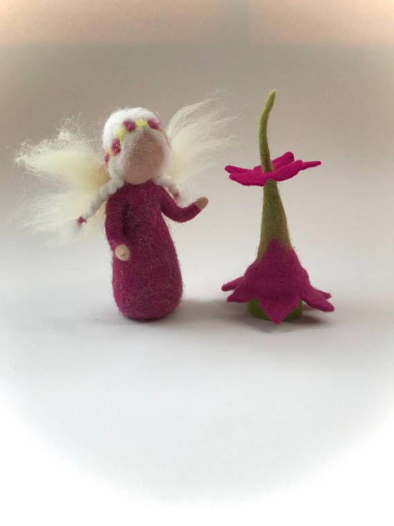 Tooth Fairy.Hand-felted. Wet felted. Waldorf. Felted.Feted