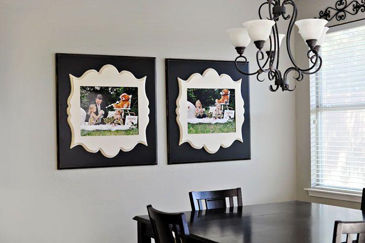 Organic Bloom frames in dining room