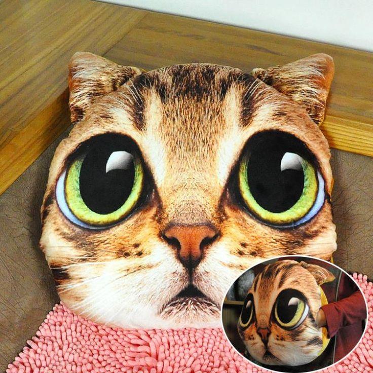 1 stuks zachte pluche kat hond creatieve persoonlijkheid warme hand rust kussen thuis decoratieve kussens in  van  op Aliexpress.com
