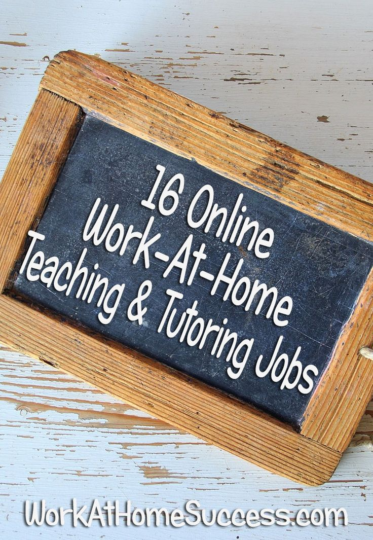16 Online Work-At-Home Teaching and Tutoring Jobs http://www.workathomesuccess.com/16-virtual-teaching-and-tutoring-job-resources/?utm_campaign=coschedule&utm_source=pinterest&utm_medium=Leslie%20Truex&utm_content=16%20Online%20Work-At-Home%20Teaching%20and%20Tutoring%20Jobs