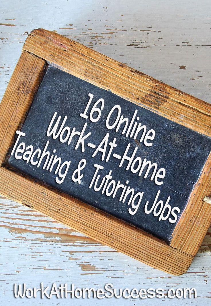 16 Online Work-At-Home Teaching and Tutoring Jobs http://www.workathomesuccess.com/16-virtual-teaching-and-tutoring-job-resources/?utm_campaign=coschedule&utm_source=pinterest&utm_medium=Leslie%20Truex&utm_content=16%20Online%20Work-At-Home%20Teaching%20and%20Tutoring%20Jobs