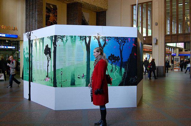 Yellow City Exhibition: Ilja Karsikas & Antti Nylén & Samae Koskinen / 8.-21.10.2012 / Helsinki Central Station