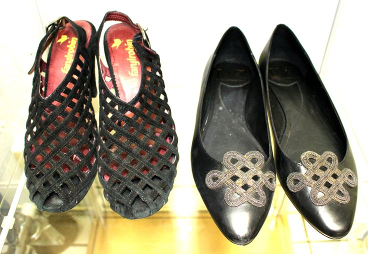 """FarylRobin """"Cage"""" suede shoes and Diane von Furstenberg flats, both 7.5 (or a narrow 8)."""