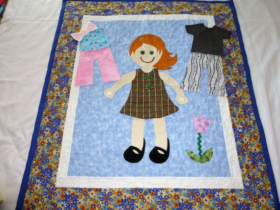 Dress Me Doll Quilt Paper Doll Quilt By Piecesoftheprairie