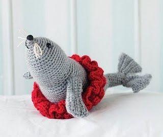 foca bailarina al crochet