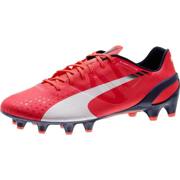 Puma evoSPEED 1.3 FG Men's Firm Ground Soccer Cleats (£79) ❤ liked on Polyvore featuring men's fashion and men's shoes