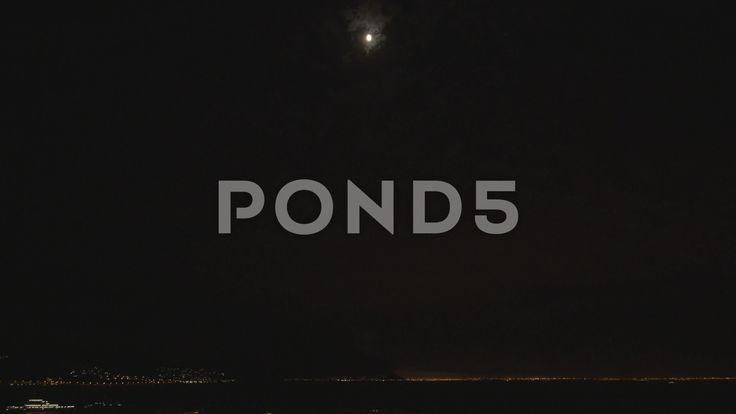 4k Night Time Lapse Moonlight Over Pier Cruise Ship Lights - Stock Footage | by RyanJonesFilms